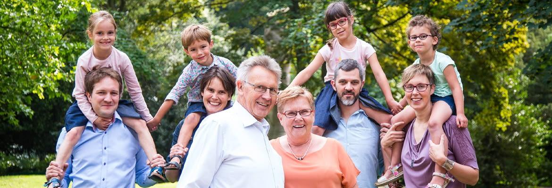 Familie groepsfoto Deinze Brielmeersen